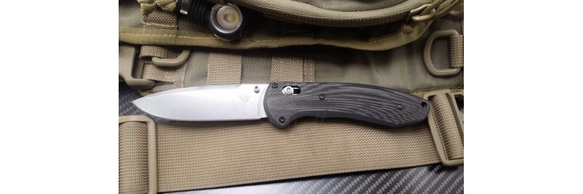 Benchmade Boost 590. Model - Elegant - Line. (CF - Linear)