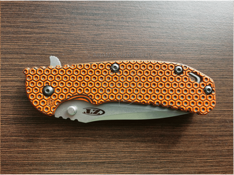 Custome scales Honeycomb 2, for ZT 0560, ZT 0561. knife